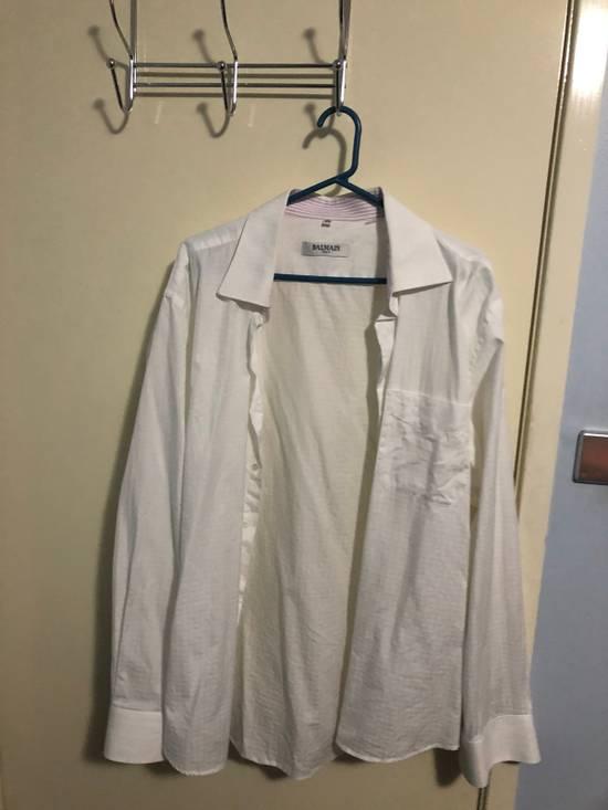 Balmain Classic Processed Cotton Shirt Size US XL / EU 56 / 4 - 3