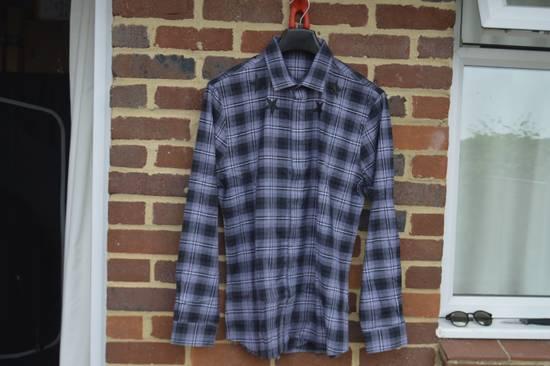 Givenchy Grey Plaid Stars Print Shirt Size US XL / EU 56 / 4