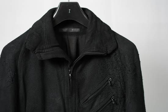 Julius AW12 Black Destroyed Lamb Jutneck Leather Jacket Size US M / EU 48-50 / 2 - 1