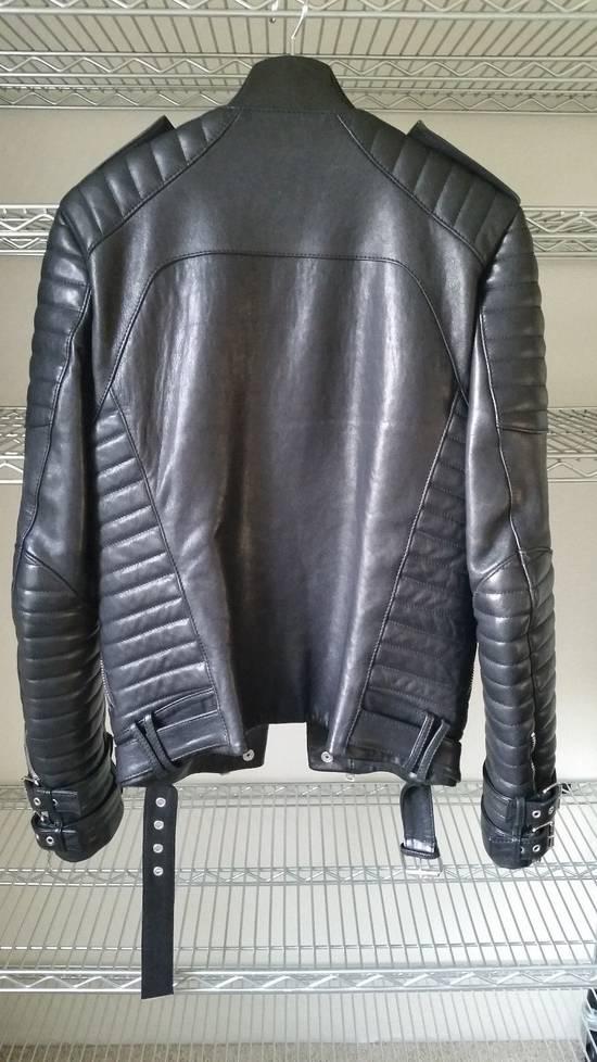 Balmain Black Lambskin Overlong Biker Perfecto Jacket EU48/US38 Size US M / EU 48-50 / 2 - 4