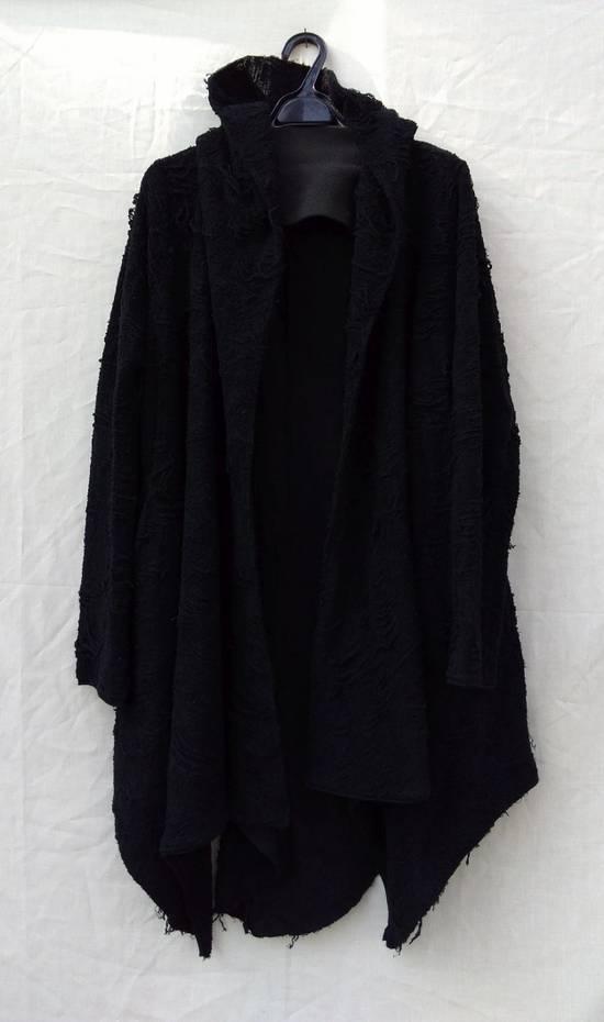 Julius Black Hooded Cotton Wool Jacquard Cardigan Size US M / EU 48-50 / 2