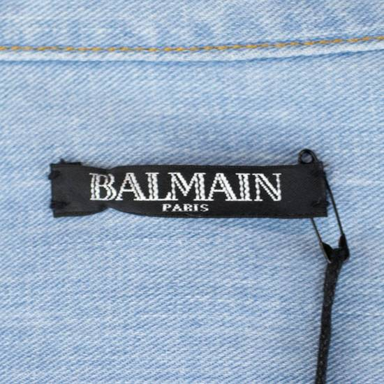 Balmain Denim Embroidered Button Down Casual Shirt Size 17 US 43 EU Size US XL / EU 56 / 4 - 7