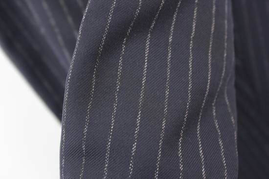 Thom Browne Classic High Waisted Navy Wool Pinstriped Pant Size 36R - 4