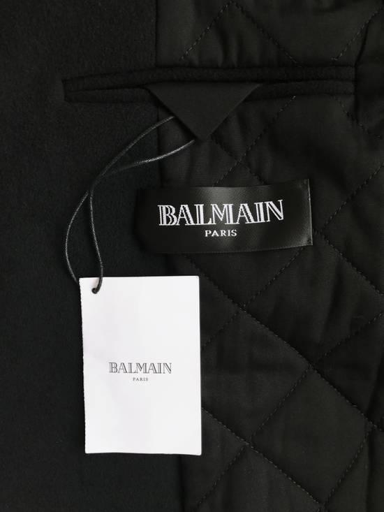 Balmain Balmain Black Wool Hooded Peacoat Size US L / EU 52-54 / 3 - 6