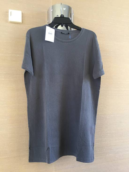 Balmain Grey Silk Tee Size US M / EU 48-50 / 2