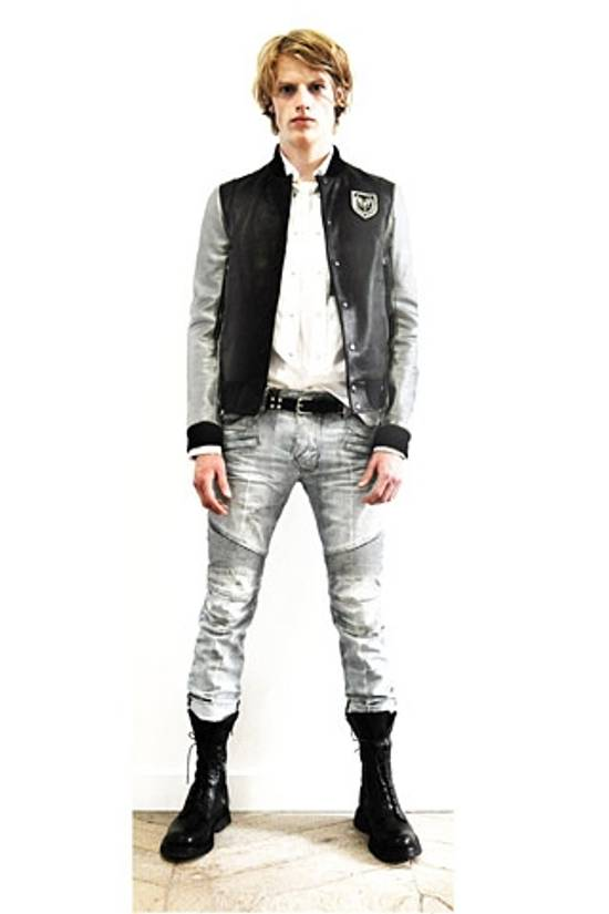 Balmain SS11 Decarnin Teddy Varsity Black Leather Jacket Kanye West 1of1 Size US L / EU 52-54 / 3 - 11