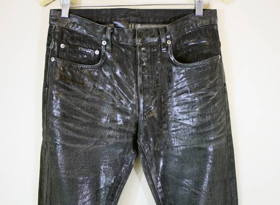 Dior Dior Homme FW04 Black Waxed 19cm Denim Jeans Size US 29 - 1