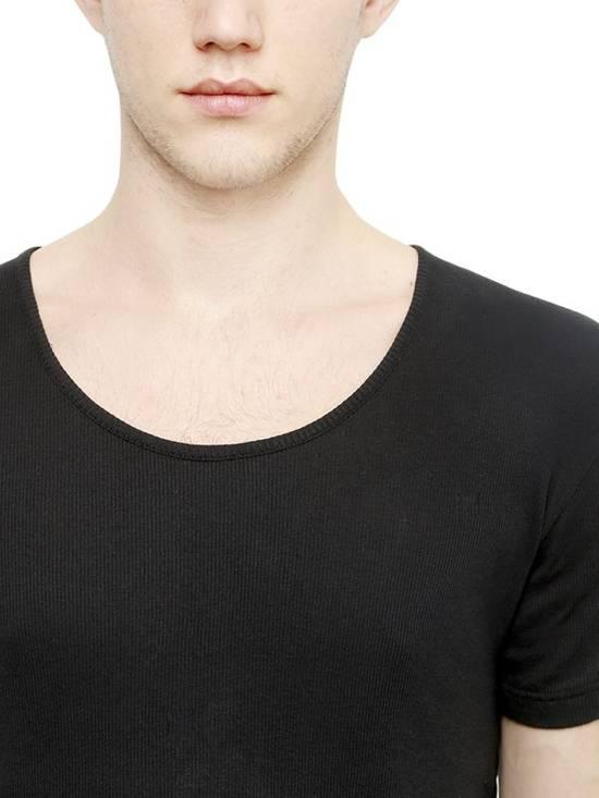 Balmain Black Ribbed Knit T-shirt Size US XS / EU 42 / 0 - 2
