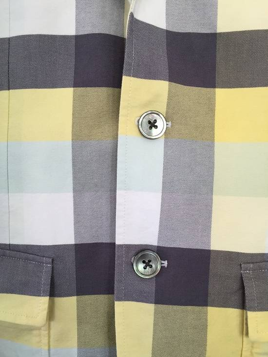 Thom Browne Thom Browne Spring 2011 Size 0 Jacket Yellow Gray Light Blue Plaid Blazer Size 36R - 2