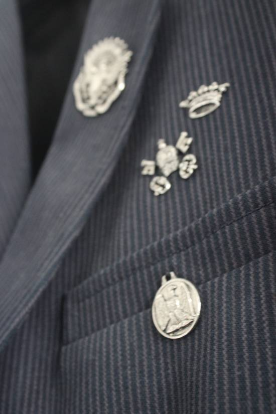 Balmain SS11 Campaign Decarnin Era Striped Pins Blazer Size 50R - 6