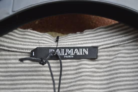Balmain Distressed Striped T-shirt Size US M / EU 48-50 / 2 - 2