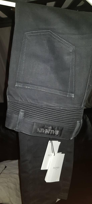 Balmain Slim-fit raw denim biker jeans Size US 31 - 3