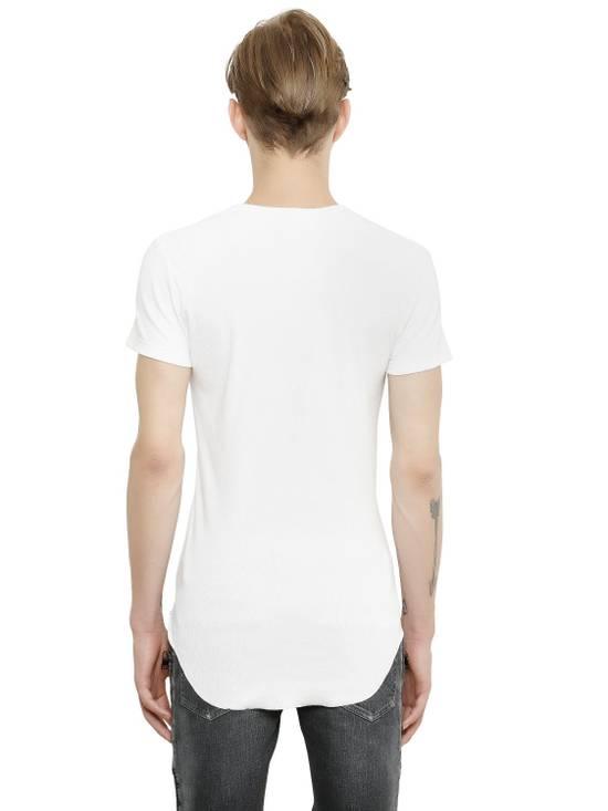 Balmain White Ribbed T-shirt Size US M / EU 48-50 / 2 - 4