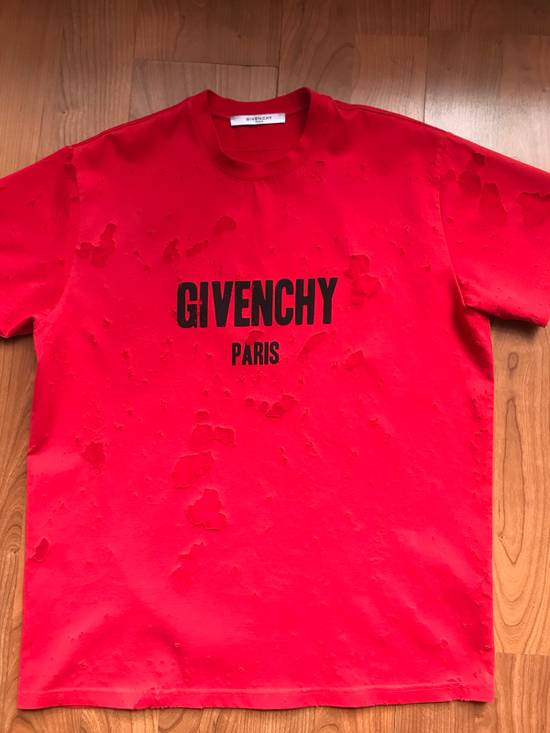 Givenchy Distressed T-Shirt Red Size US S / EU 44-46 / 1