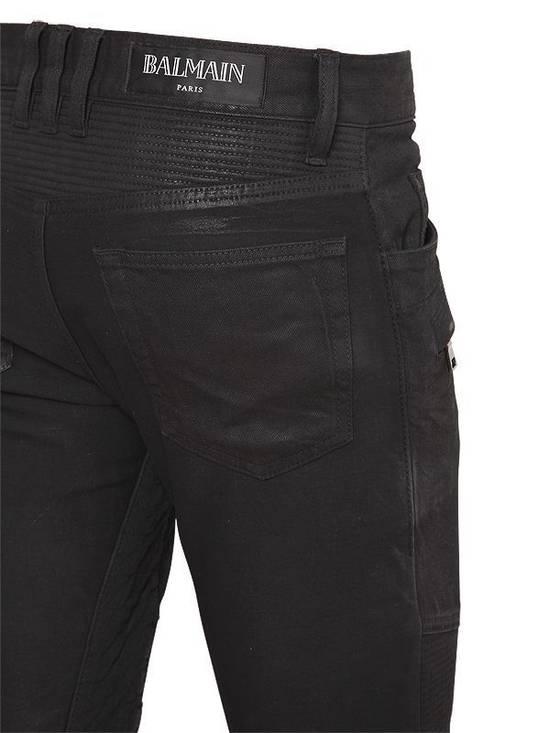 Balmain Balmain Black Denim Coated Authentic Biker $1230 Jeans Size 31 New Size US 31 - 1