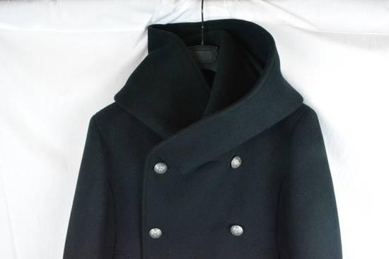 Balmain Black Peacoat Oversize Hood Wool Duffle 52 50 42 Black $4,889 New Size US L / EU 52-54 / 3 - 1