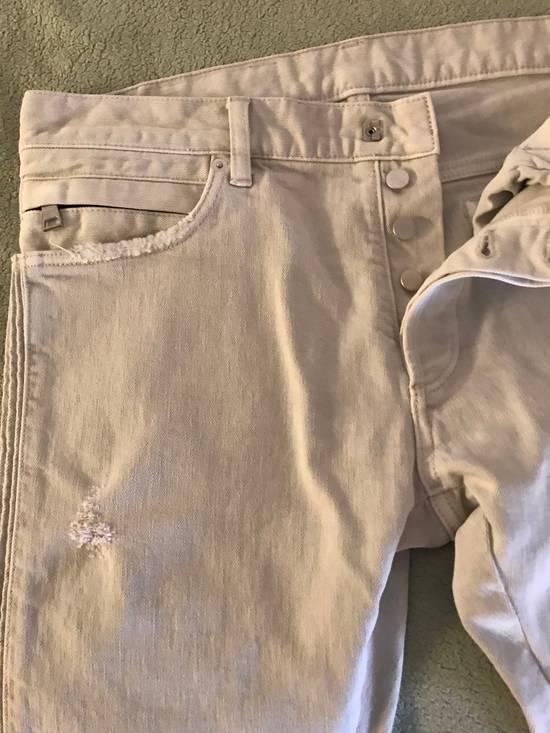 Balmain Distressed stretch-denim biker jeans Size US 31 - 5