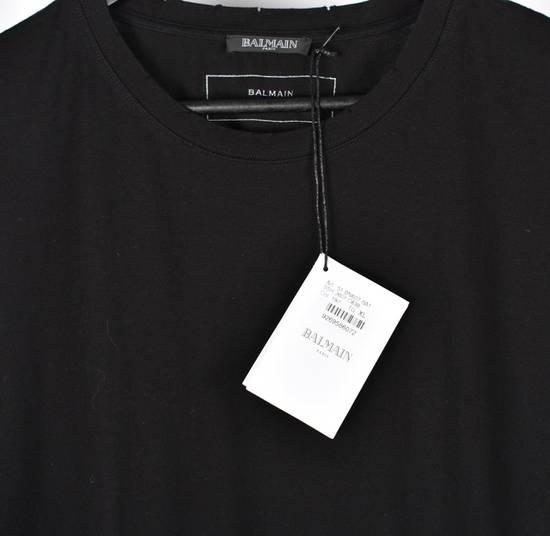 Balmain Paris Men Black Crew Neck T-Shirt, NWT Size US XL / EU 56 / 4 - 3