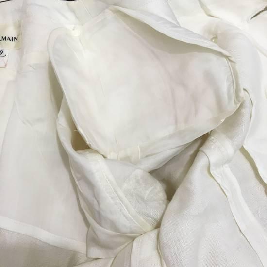 Balmain PIERRE BALMAIN PARIS Double Breasted Made In ITALY White Blouse Jacket Blazer Size 36S - 8