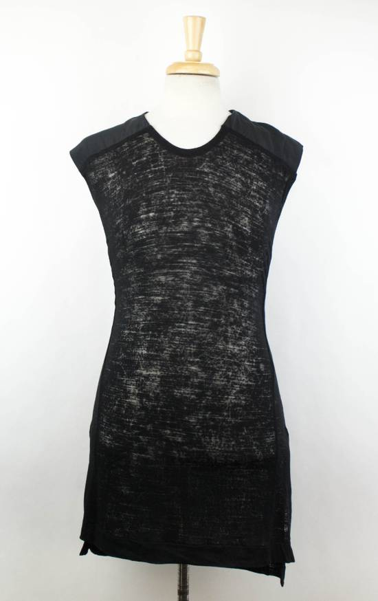 Julius MA_JULIUS Black Rayon Blend Sleeveless Long Crewneck T-Shirt Size 3/M Size US M / EU 48-50 / 2