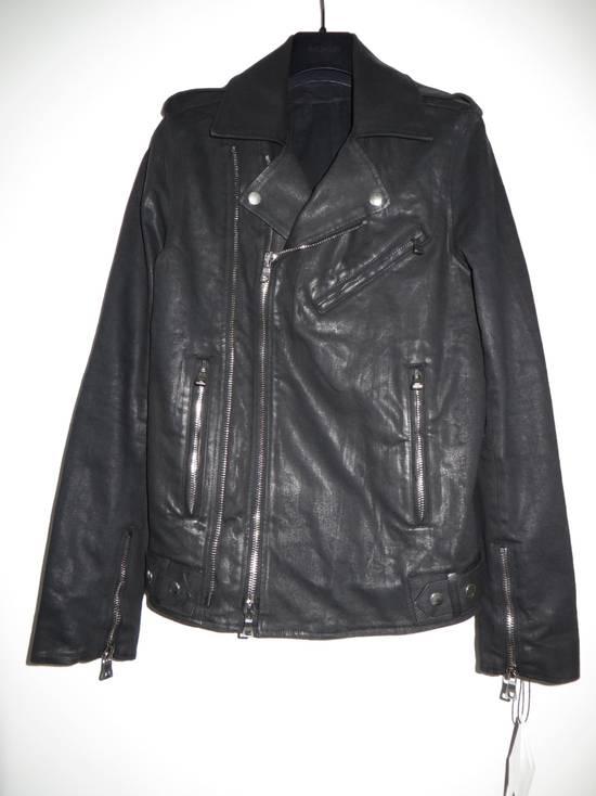 Balmain Waxed denim perfecto biker jacket Size US M / EU 48-50 / 2 - 1