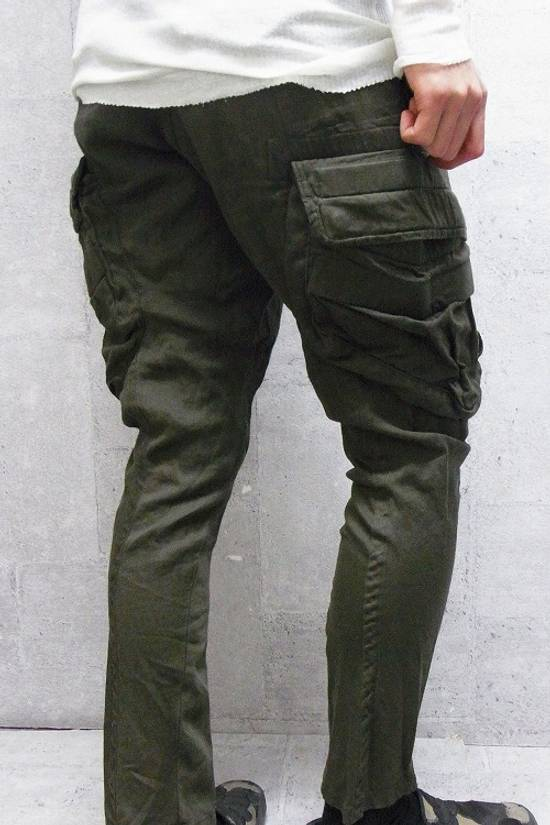Julius Green Linen Blend Gas Mask Cargo Pants Size US 30 / EU 46 - 14