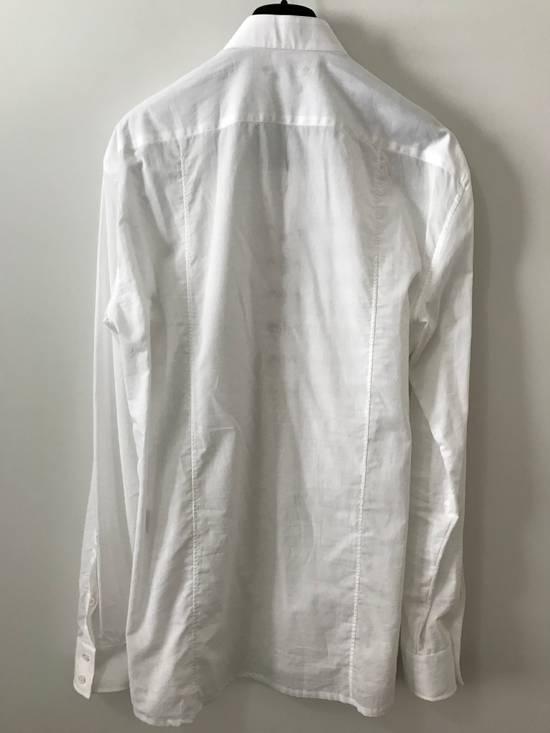 Balmain Size 39 - White Lace-Up Cotton Shirt - SS17 - $1200 Size US M / EU 48-50 / 2 - 3