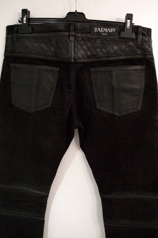 Balmain Rare Moleskin Ribbed Biker Trousers Size US 34 / EU 50 - 2