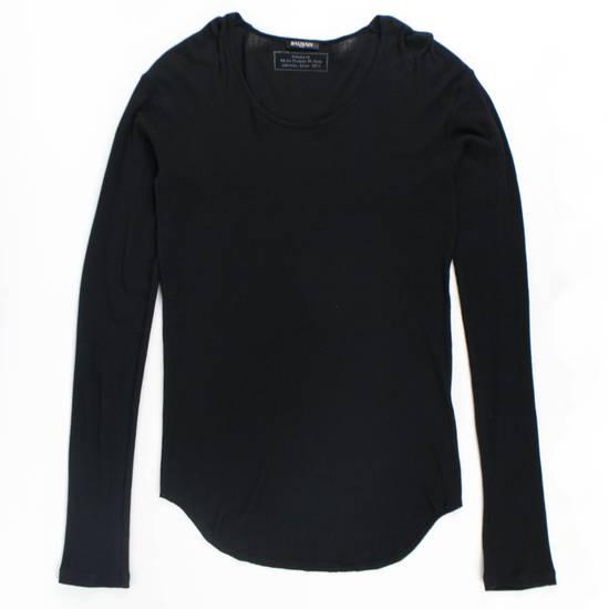 Balmain Black Cotton Ribbed Long Sleeve Crewneck T-Shirt Size XL Size US XL / EU 56 / 4