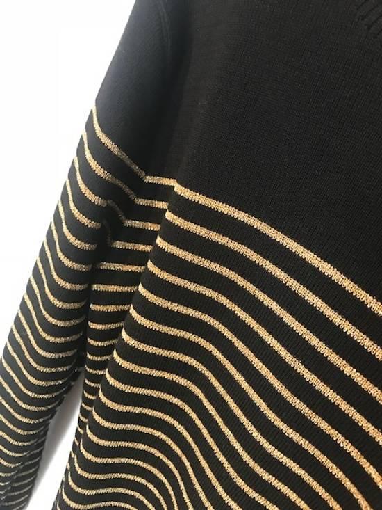 Balmain Balmain Black Gold Striped Wool Sweater Size US L / EU 52-54 / 3 - 2