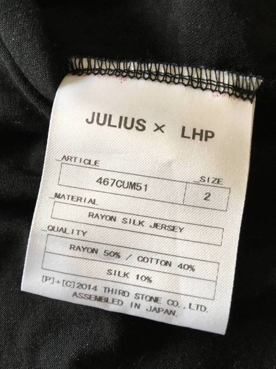 Julius Japan made black printed silk and cotton jersey longline tshirt Size US M / EU 48-50 / 2 - 8