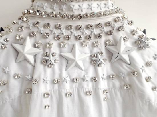 Givenchy GIVENCHY 2012 F/W STAR STUDS & CRYSTAL BEADS WHITE SHIRT Size US M / EU 48-50 / 2 - 8