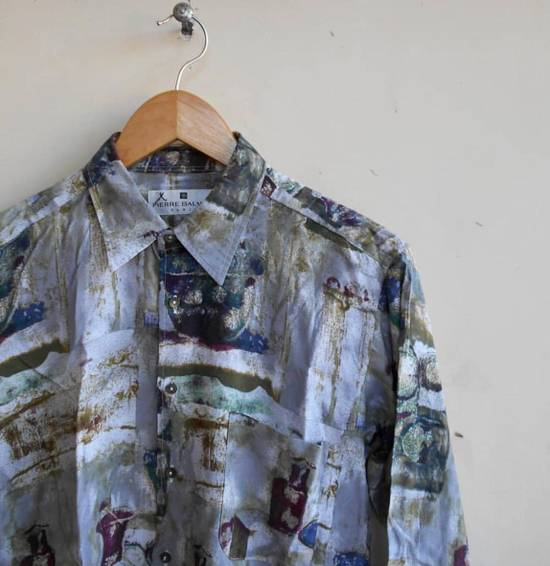 Balmain Vintage Balmain Silk Shirt Baroque not gucci balenciaga givenchy saint laurent balmain versace chanel hermes louis vuitton prada Size US M / EU 48-50 / 2 - 1