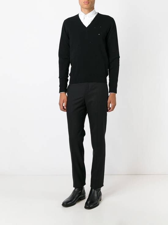Givenchy Givenchy Destroyed Distressed Wool Slim Fit Rottweiler Knit Sweater Jumper size L (fitted M) Size US M / EU 48-50 / 2 - 4