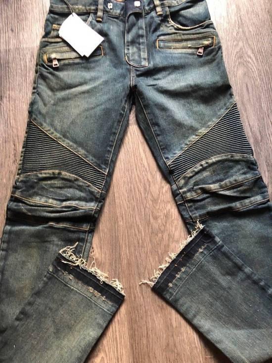 Balmain Balmain Authentic $1050 Blue Denim Biker Jeans Size 28 Slim Fit Brand New Size US 28 / EU 44 - 1