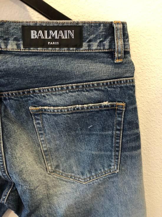Balmain Distressed Jeans Blue Size US 31 - 8