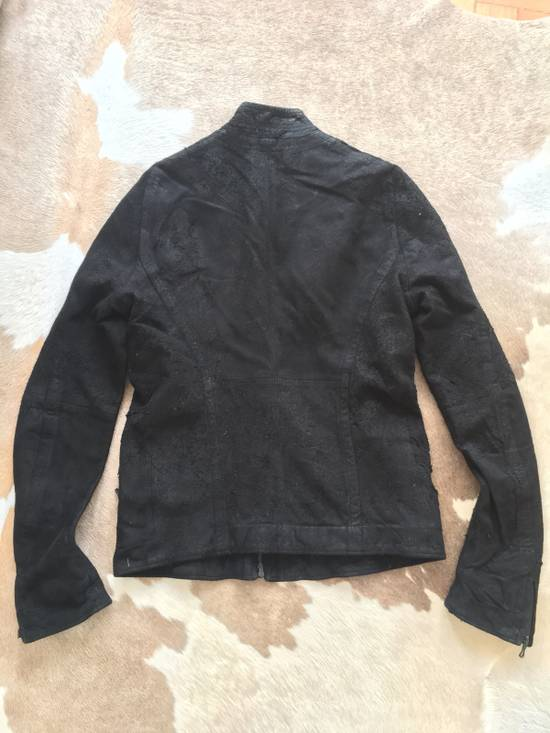Julius $2200 Lamb Leather Blistered And Reversed Moto Jacket Made In Japan In Mint Condition Size US M / EU 48-50 / 2 - 13
