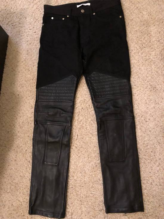 Givenchy Half Leather Jeans Size US 29