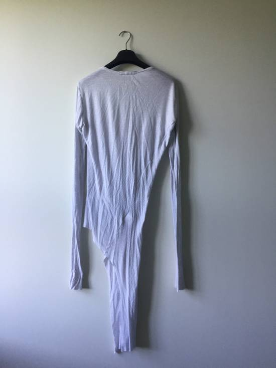 Julius Elongated White Ribbed Longsleeve Size US S / EU 44-46 / 1 - 3
