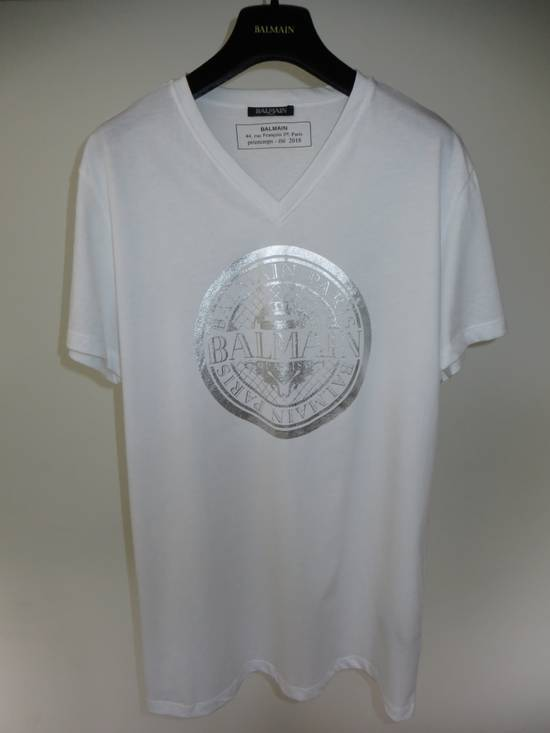 Balmain V-neck logo t-shirt Size US L / EU 52-54 / 3