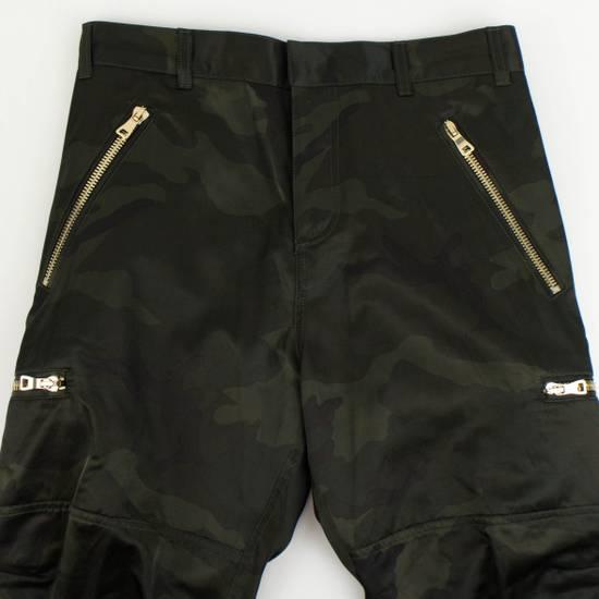 Balmain Men's Green Cotton Blend Camouflage Biker Pants Size L Size US 36 / EU 52 - 5