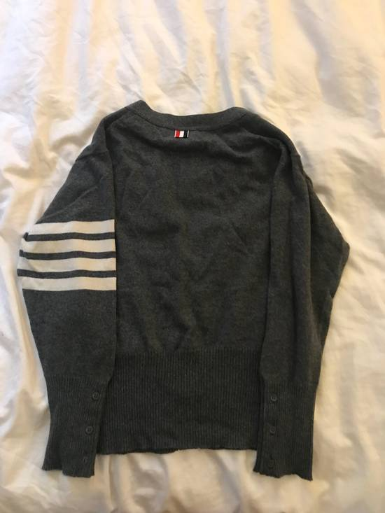 Thom Browne Classic grey cashmere cardigan Size US XXL / EU 58 / 5 - 3
