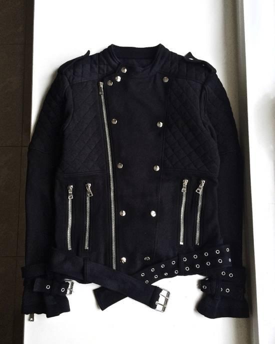 Balmain Balmain Black Quilted Biker Jacket Size US M / EU 48-50 / 2