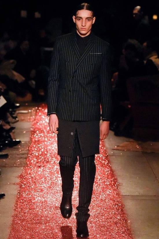 Givenchy Grey Wool Knit Runway Skirt Size US 36 / EU 52 - 5