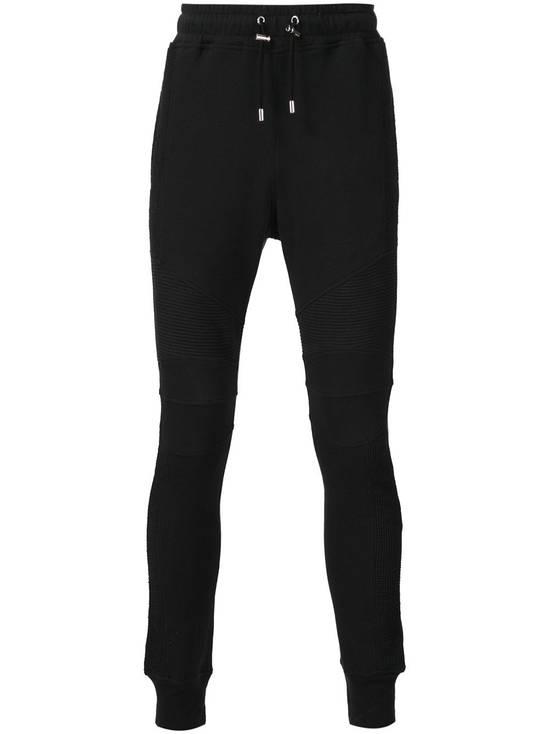 Balmain Balmain Black Biker Sweatpants Size US 30 / EU 46