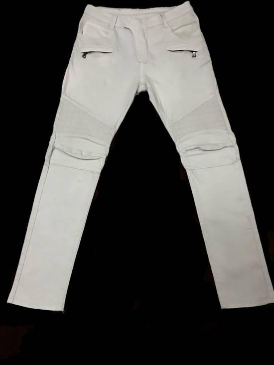 Balmain Balmain Biker All White Denim Jeans Size US 32 / EU 48