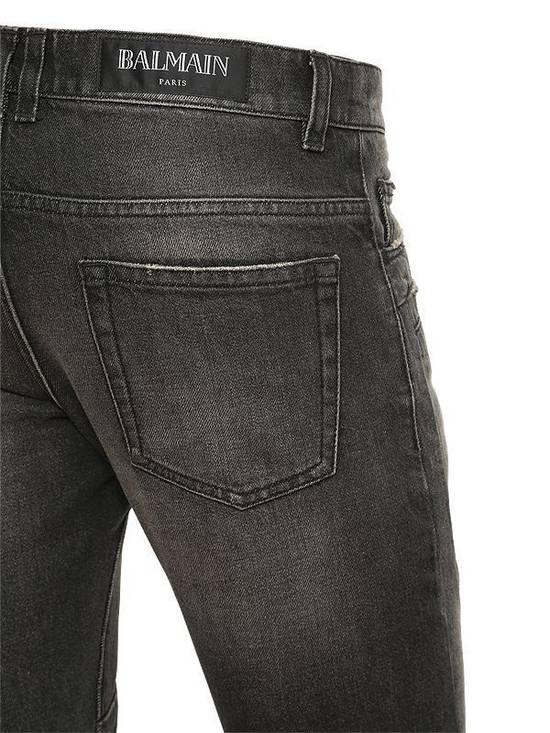 Balmain Balmain Washed Cotton Denim Black Biker $990 Authentic Jeans Size 31 New Size US 31 - 1