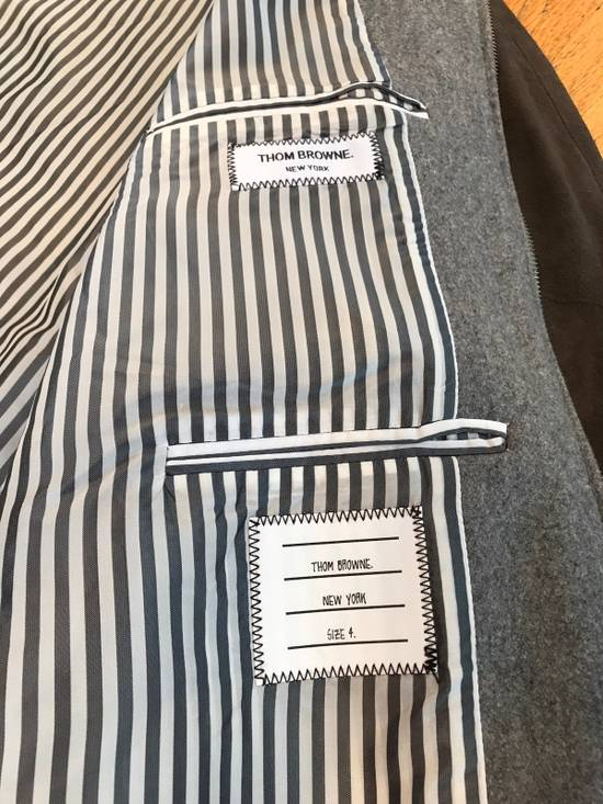 Thom Browne Cashmere & Suede Varsity Jacket Sz 4 Size US L / EU 52-54 / 3 - 3