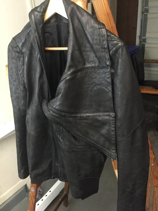 Julius SS17 Treated Lambskin Funnel Neck Jacket Size US L / EU 52-54 / 3 - 4