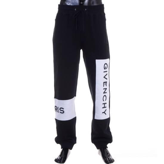 Givenchy Black Givenchy Paris Logo Embroidered Jogger Pants Size US 32 / EU 48 - 1